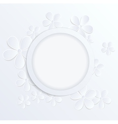 flowers made of paper with a place for text vector image vector image