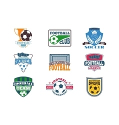Football sign badge vector image