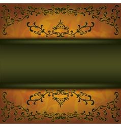 Grunge background with decorative ornament vector image vector image