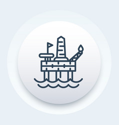 oil drilling platform icon offshore rig vector image