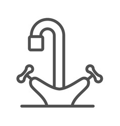 tap line icon vector image vector image