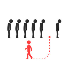 unique way for different people or leader vector image