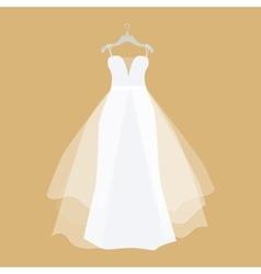 Wedding Dress in Flat Design vector image