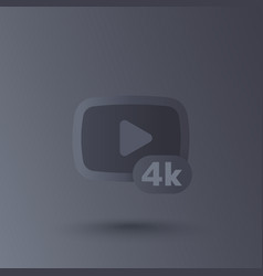 4k video icon vector image
