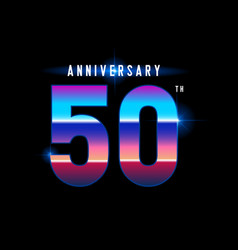 50 years anniversary celebration logotype vector