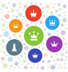 7 queen icons vector