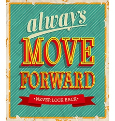 Always move forward vector