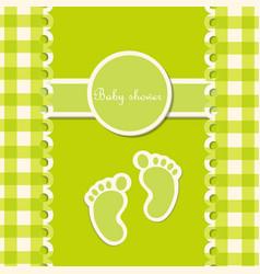 Baby girl shower invitation card background vector