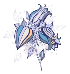 Beautiful flower Hand drawn vector