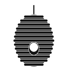 bee hive tree icon simple style vector image