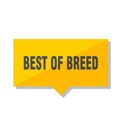 Best of breed price tag vector