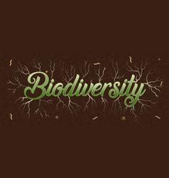 Biodiversity green tree root underground concept vector