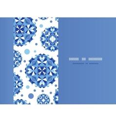 Blue abstract circles horizontal seamless pattern vector image