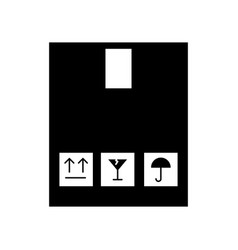 Box carton delivery icon vector