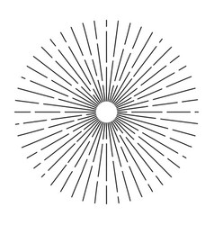 burst lines shape of sun retro vintage hipster vector image
