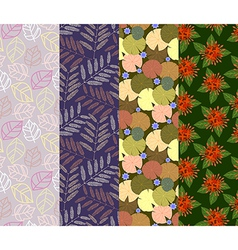 Colorful seamless pattern 4 designs in one set vector