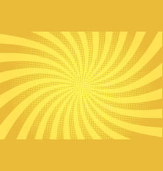 comic abstract yellow light template vector image