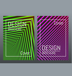 cover design template color abstract lines with vector image