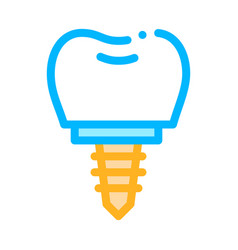 dentist stomatology tooth implant icon vector image