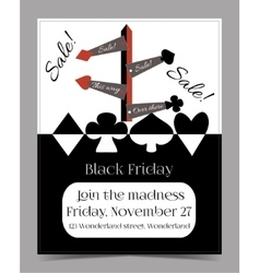 Direction Arrows Black Friday Banner Card vector