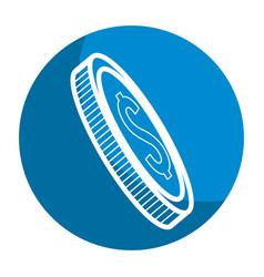 Emblem coin money save vector