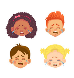 emotions a child face vector image