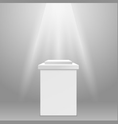 Empty pedestal - square exhibit podium vector