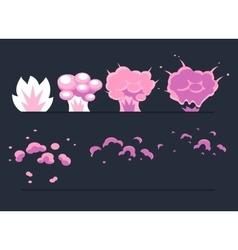 Explosion Cartoon Explode effect animation vector