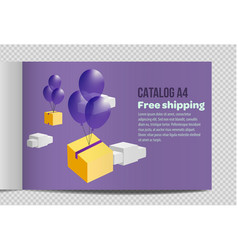 Fast catalog a4 sheet vector