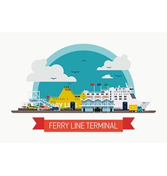 Ferry Line Terminal vector