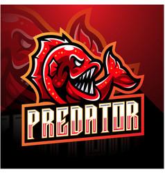 Fish esport mascot logo design vector
