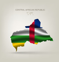 Flag of the Central African Republic as a country vector