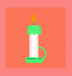 Flat shading style icon wax candle vector