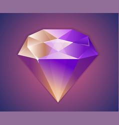 flat shinnny diamond isolated background vector image