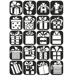 Gifts icons vector