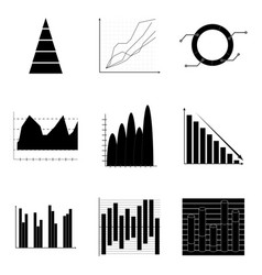 Graph and charts vector