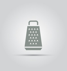 grater for vegetables isolated flat icon vector image