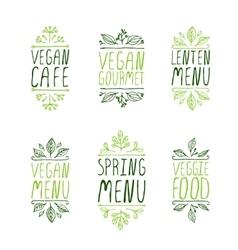 Hand-sketched typographic elements restaurant vector