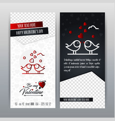 happy valentines day red icon vertical banner vector image