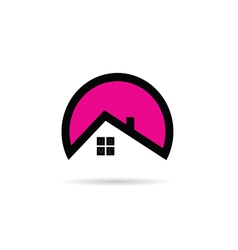 home icon in pink vector image