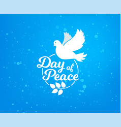 international day of peace concept vector image