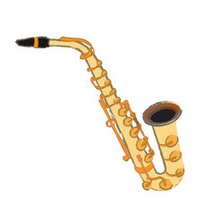 Isolated saxophone vector