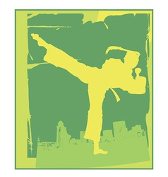 Karate pose vector image