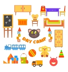 Kindergarten Preschool Set vector image
