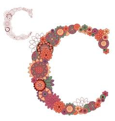 Letter C vector image