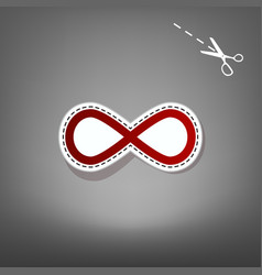 Limitless symbol red icon vector