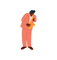 male african american musician in eegant suit vector image