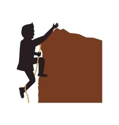Man climbing avatar person silhouette icon vector