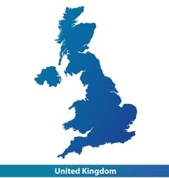 Map of UK United Kingdom vector