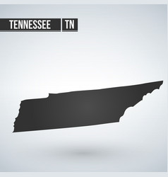 Map us state tennessee vector